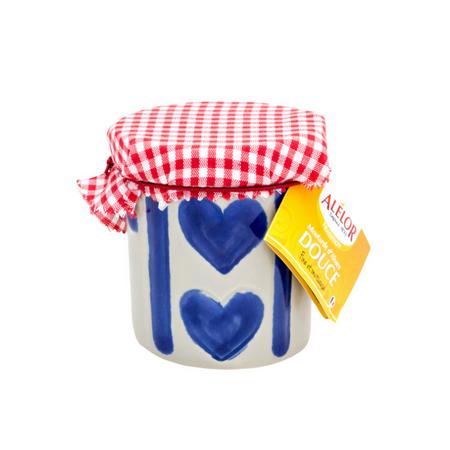 Moutarde douce d'Alsace pot grès 100g coeur