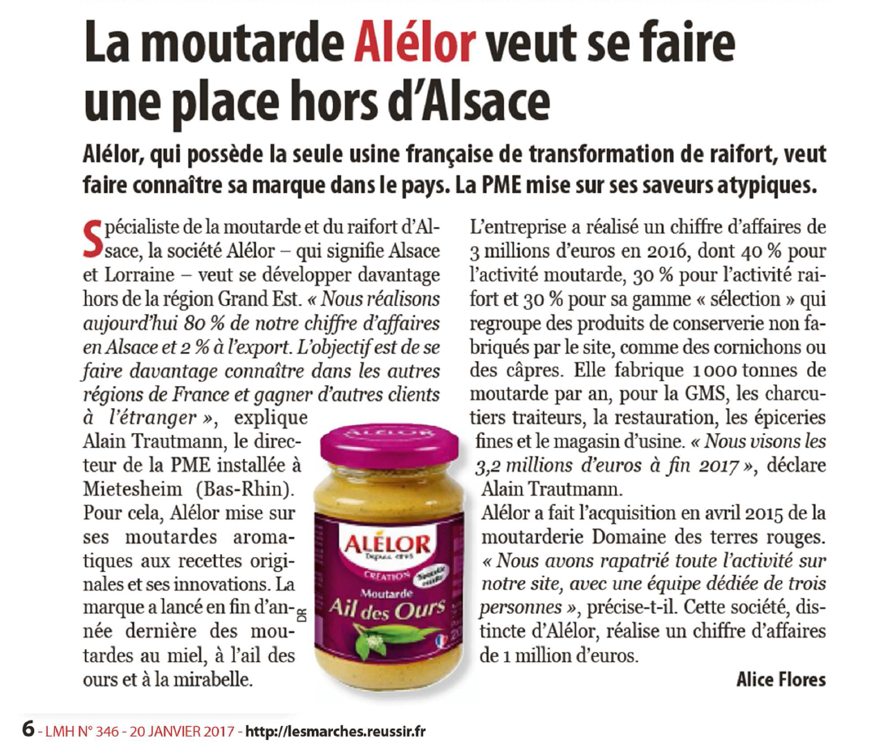 Article : Alélor à la conquête du marché français