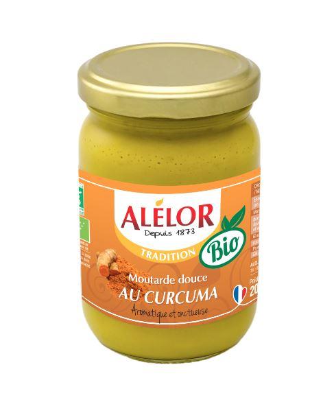 Moutarde douce Bio au Curcuma et aux aromates