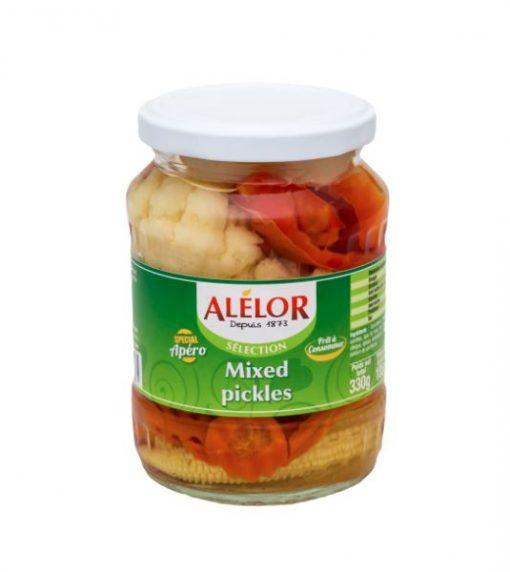 Mixed pickles, mélange de 6 légumes au vinaigre