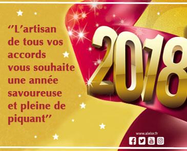 Belle et savoureuse nouvelle année 2018