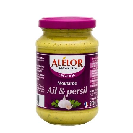 Moutarde Ail et Persil 200g
