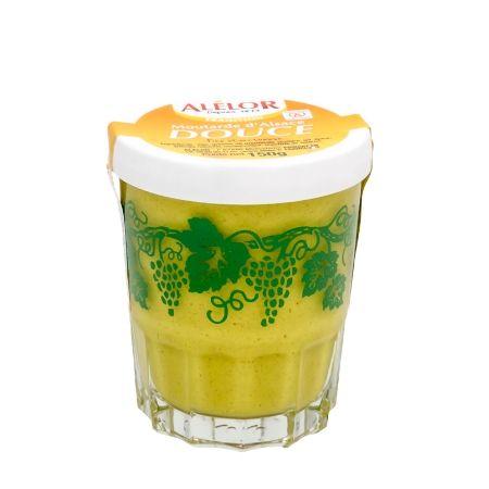 Moutarde douce d'Alsace verre Raisin 150g