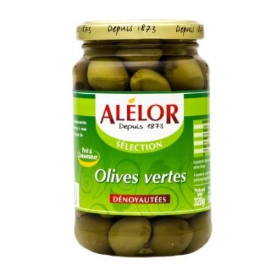 Olives vertes dénoyautées 37cl