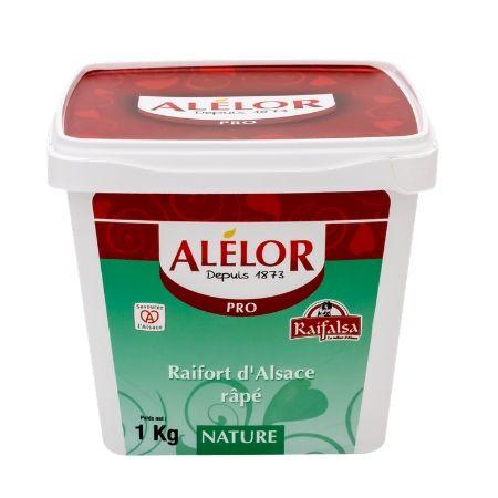 Raifort d'Alsace râpé nature Seau 1Kg