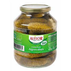 Cornichons aigres-doux Bio 170cl